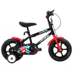 stradeXL Rower dla dzieci, 12 cali, czarno-czerwony