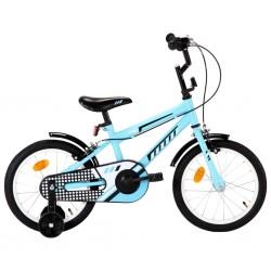 stradeXL Rower dla dzieci, 16 cali, czarno-niebieski