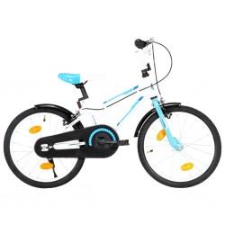 stradeXL Rower dla dzieci, 18 cali, niebiesko-biały