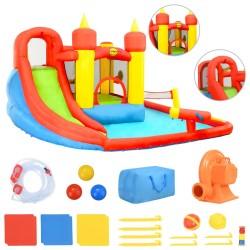 Happy Hop Dmuchany zamek ze zjeżdżalnią i basenem, 410x385x220 cm, PVC