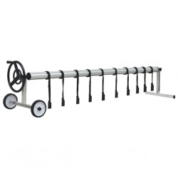 stradeXL Pool Cover Roller with Stainless Steel Base