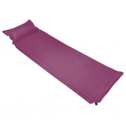 stradeXL Materac dmuchany z poduszką, 55x185 cm, różowy