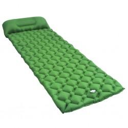 stradeXL Dmuchany materac z poduszką, 58x190 cm, zielony