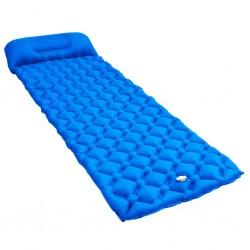stradeXL Dmuchany materac z poduszką, 58x190 cm, niebieski