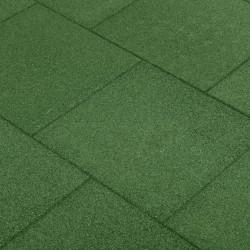 stradeXL Gumowe płyty, 6 szt., 50 x 50 x 3 cm, zielone