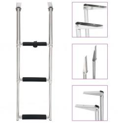 stradeXL Folding Boarding Ladder 3-step Stainless Steel