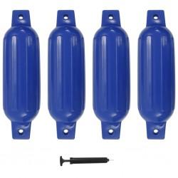 stradeXL Odbijacze do łodzi, 4 szt., niebieskie, 41x11,5 cm, PVC