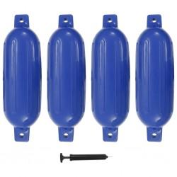 stradeXL Odbijacze do łodzi, 4 szt., niebieskie, 58,5x16,5 cm, PVC
