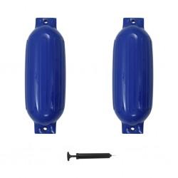 stradeXL Odbijacze do łodzi, 2 szt., niebieskie, 69x21,5 cm, PVC