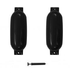 stradeXL Boat Fender 2 pcs Black 69x21.5 cm PVC