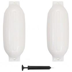 stradeXL Boat Fender 2 pcs White 69x21,5 cm PVC