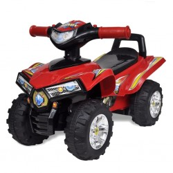 Red Children's Ride-on Quad with Sound and Light