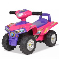 stradeXL Children's Ride-on ATV with Sound and Light Pink and Purple