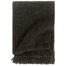 stradeXL Throw Cotton 125x150 cm Anthracite/Brown