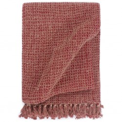 stradeXL Throw Cotton 125x150 cm Burgundy