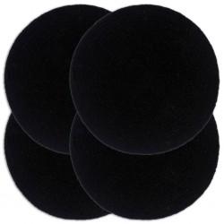 stradeXL Placemats 4 pcs Plain Black 38 cm Round Cotton