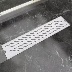 stradeXL Odpływ prysznicowy liniowy, fale, 530 x 140 mm, stal nierdzewna