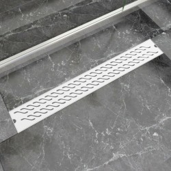 stradeXL Odpływ prysznicowy liniowy, fale, 830 x 140 mm, stal nierdzewna