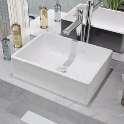 stradeXL Umywalka ceramiczna 41 x 30 x 12 cm, biała
