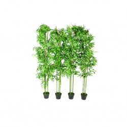 Set of 4 Bamboo Artificial Home Decor 190cm