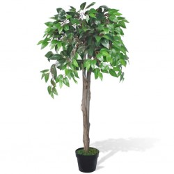 stradeXL Artificial Plant Ficus Tree with Pot 110 cm