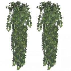stradeXL 2 pcs Artificial Ivy Bush 90 cm Green