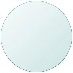 stradeXL Table Top Tempered Glass Round 700 mm
