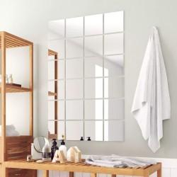 stradeXL 24 pcs Mirror Titles Square Glass