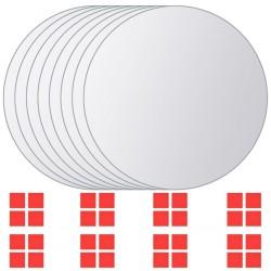 stradeXL 8 pcs Mirror Titles Round Glass