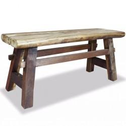 stradeXL Ławka, lite drewno z odzysku, 100 x 28 x 43 cm