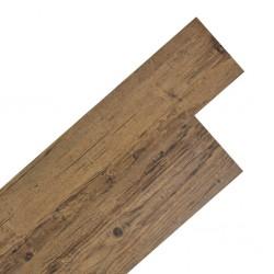 stradeXL Samoprzylepne panele podłogowe PVC 5,02 m², 2 mm orzechowy brąz