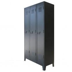 stradeXL Metalowa szafka w industrialnym stylu, 90 x 45 x 180 cm