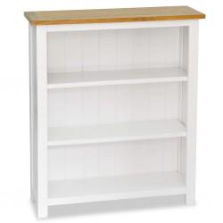 stradeXL Regał na książki z 3 półkami, 72x22,5x82 cm, lite drewno dębowe
