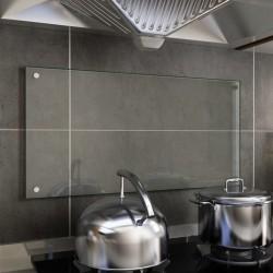 stradeXL Panel ochronny do kuchni, przezroczysty, 80x40 cm, szkło