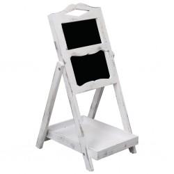 stradeXL Chalkboard Display Stand White 33x39x75 cm Wood