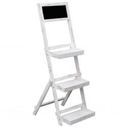 stradeXL Chalkboard Display Stand White 42x40x120 cm Wood