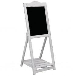stradeXL Tablica kredowa na stojaku, biała, 42 x 44 x 112 cm, drewno