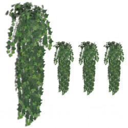 stradeXL Sztuczny bluszcz, 4 szt., zielony, 90 cm