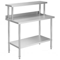 stradeXL Kuchenny stół roboczy z półką, 120x60x120 cm, stal nierdzewna