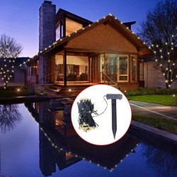stradeXL Solarne lampki świąteczne, ciepłe, białe światło, LED