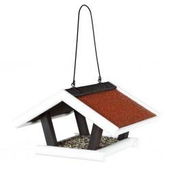 TRIXIE Wiszący karmnik dla ptaków Natura, 30x18x28 cm, czarno-biały