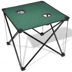 Składany stół kempingowy ciemno zielony