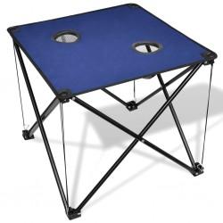 Składany stół kempingowy niebieski