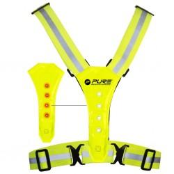 Pure2Improve Odblaskowa kamizelka do biegania z LED, żółta