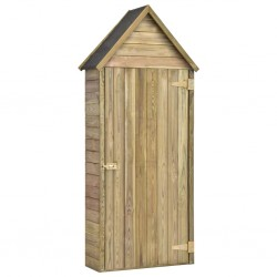 stradeXL Garden Tool Shed with Door 77x37x178 cm Impregnated Pinewood