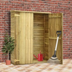 stradeXL Garden Tool Shed 123x50x171 cm Impregnated Pinewood