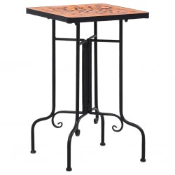 stradeXL Mosaic Side Table Terracotta Ceramic