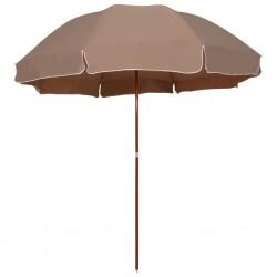 stradeXL Parasol na stalowym słupku, 300 cm, kolor taupe