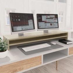 stradeXL Podstawka pod monitor, dąb sonoma, 100x24x13 cm, płyta wiórowa