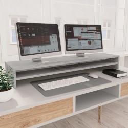 stradeXL Podstawka pod monitor, betonowy szary, 100x24x13 cm